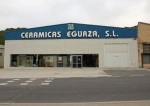 Fachada Cerámicas Egurza. Estella, Navarra